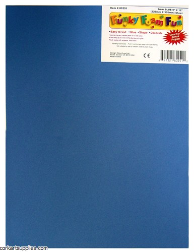 Foam Sheet 12x18in 2mm Blue