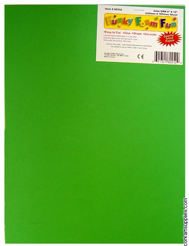 Foam Sheet 12x18in 2mm Green