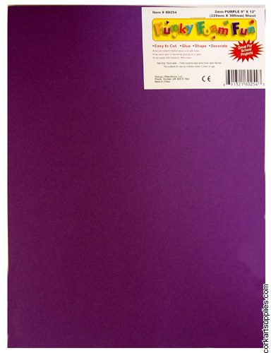 Foam Sheet 12x18in 2mm Purple
