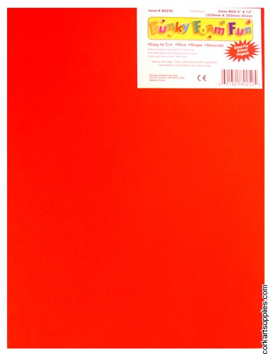 Foam Sheet 12x18in 2mm Red