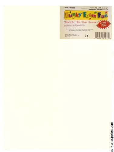 Foam Sheet 12x18in 2mm White