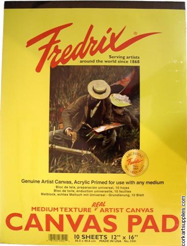 Canvas Pad Fredrix 12x16