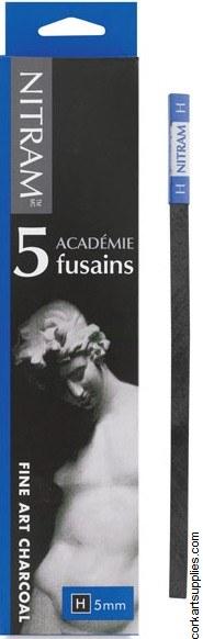 Nitram Fusains Charcoal H 5pk