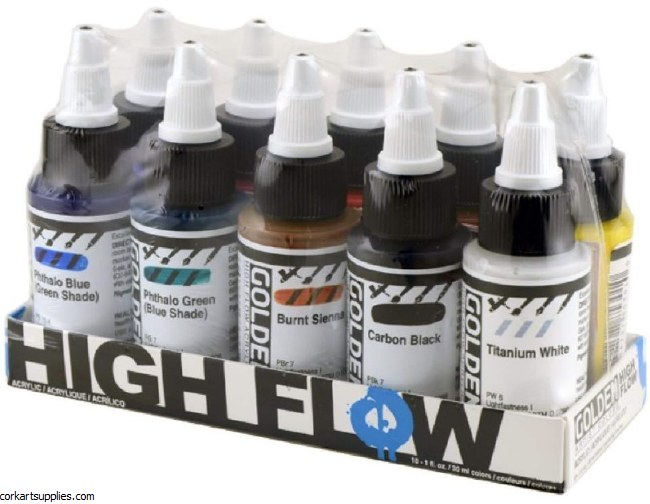 Golden High Flow Acrylics 30ml 10pk