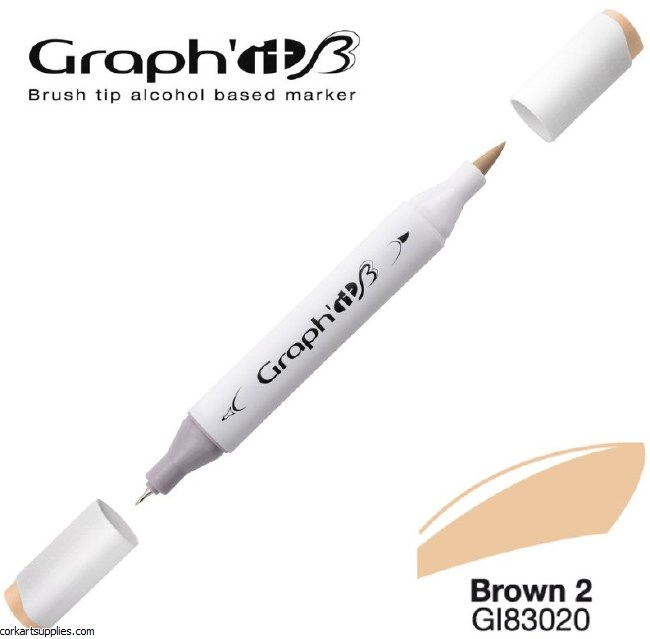 Graph'it Brush Marker 3020 Brown 2