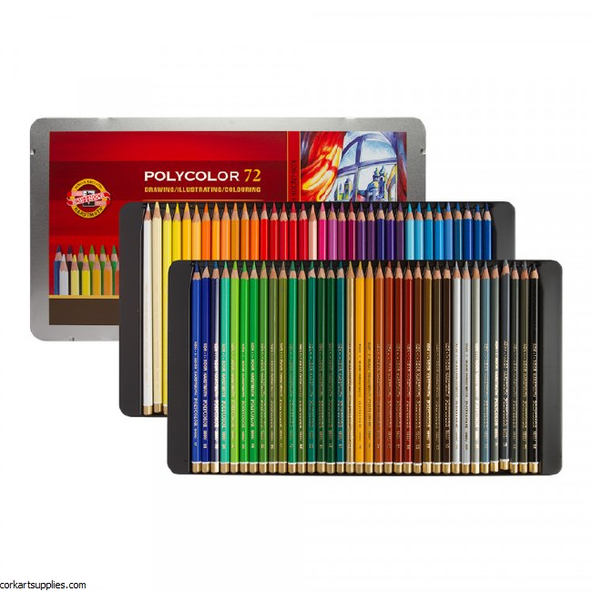 Polycolor KIN Pencils 72Tin