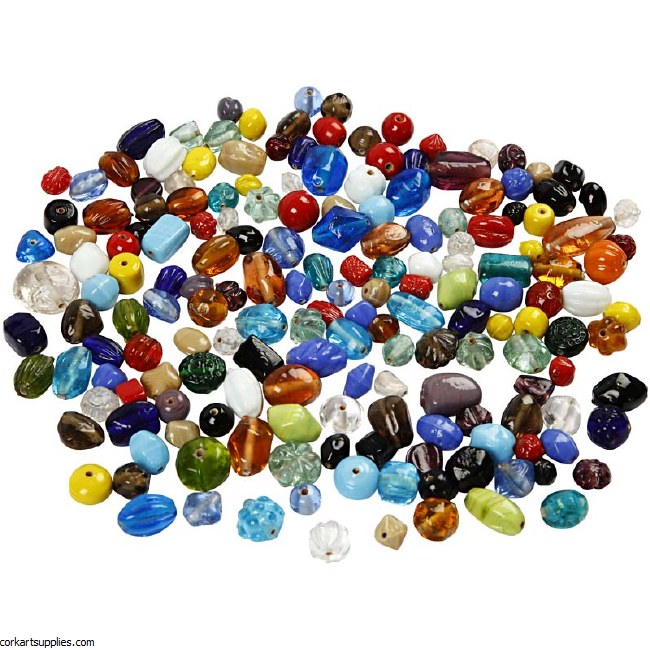Beads Glass Assorted 1kg