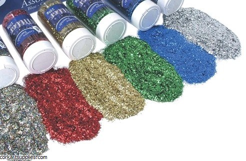 Glitter Pot 250gm Med Silver