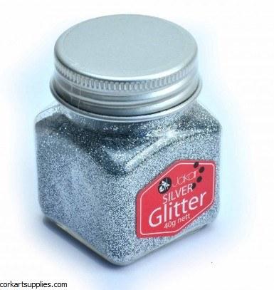 Glitter Pot 40gm Silver
