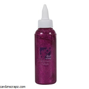 Glitter Glue 120ml Fuchsia