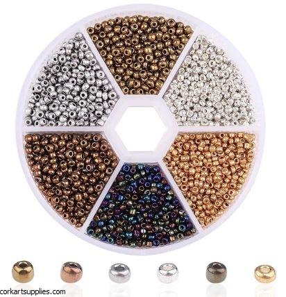 Seed Beads Gold Wheel