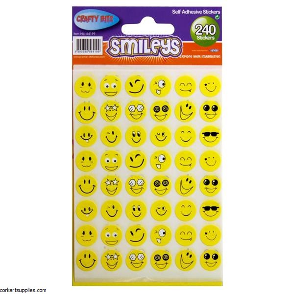 Stickers Smiley Faces 240pk