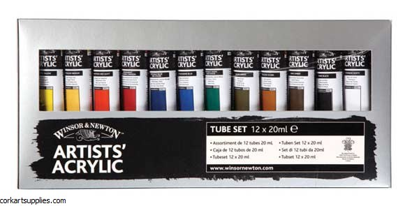 Artists' Acrylic 20ml Starter 12 Pack Winsor & Newton