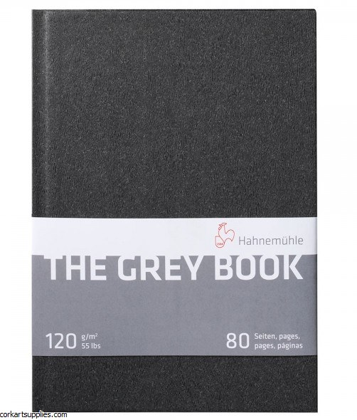 Hahnemuhle A5 Grey Book 120gm 40 Sheets