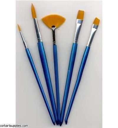 Synthetic Brush 2R,2F &Fan 5pk