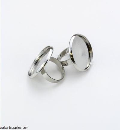 Finger Ring 25mm Flat Base 2pk