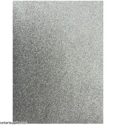 Glitter Foam Sheets A4 Silver 5pk