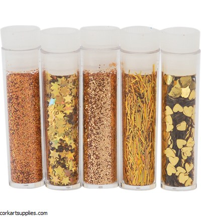 Glitter 5pk Asstorted Gold No.8612