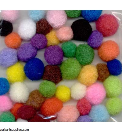 Hobby Crafting Fun Mega Pompom Set, Assorted
