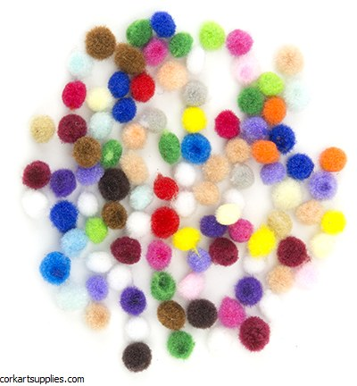 Hobby Crafting Fun Mini Pompom Set, Assorted