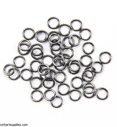 Jump Rings 6mm 50pk Anthracite