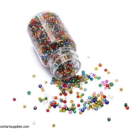 Seed Beads Bottle Mix Transpar