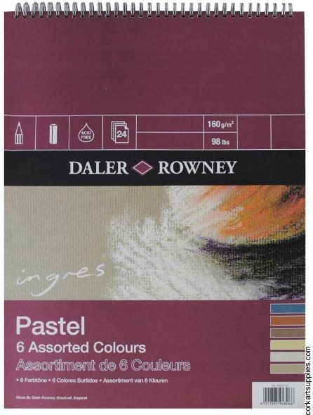 Ingres Pad 6 Colour 150g 12x9