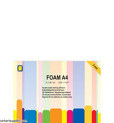 JeJe 3D Foam A4 2mm 2pk