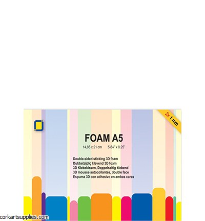 JeJe 3D Foam A5 1mm 2pk
