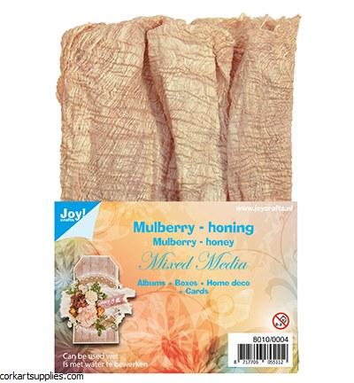 Joy!crafts Mulberry Bark Fibers Honey For Mixed Media