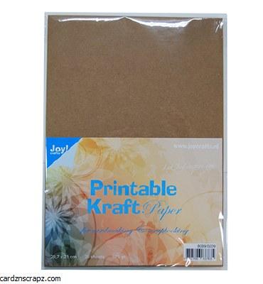 A4 Joycrafts Printable Kraft Paper