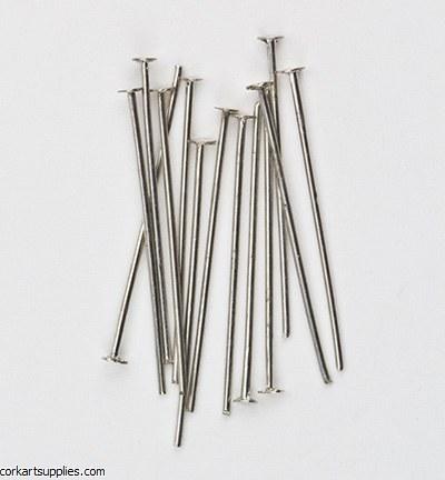 Head Pins 100pk Silver 25mm