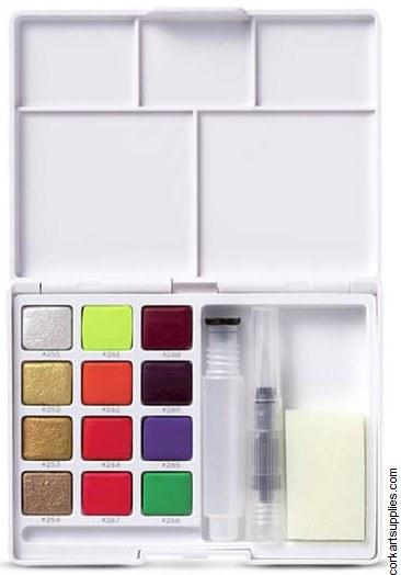 Koi Watercolour Pocket Field box 12pk Metallic