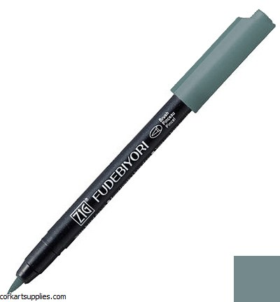 Kuretake Fudebiyori Brush Pen Grey Brown