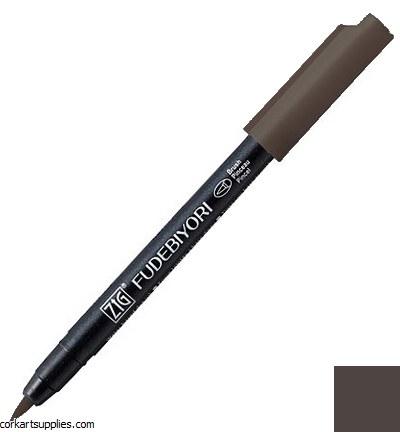 Kuretake Fudebiyori Brush Pen Mid Grey