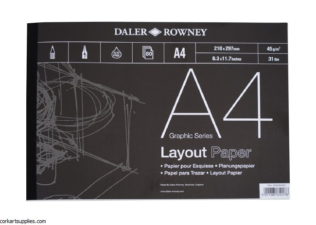 Layout Pad A4 Daler 45gm