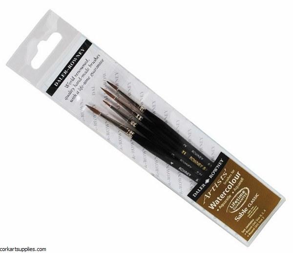 Sable Brush D/R Wallet 4pk