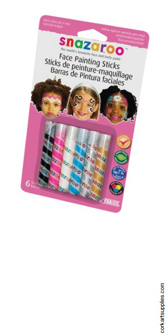 Snazaroo Sticks Face Girl 6pk