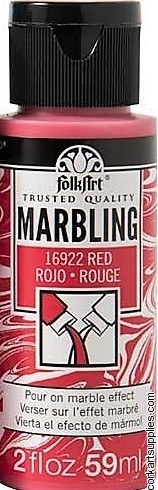 FolkArt Marbling Ink 2oz/59ml Red