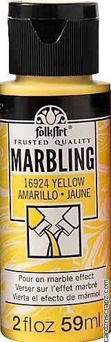 FolkArt Marbling Ink 2oz/59ml Yellow