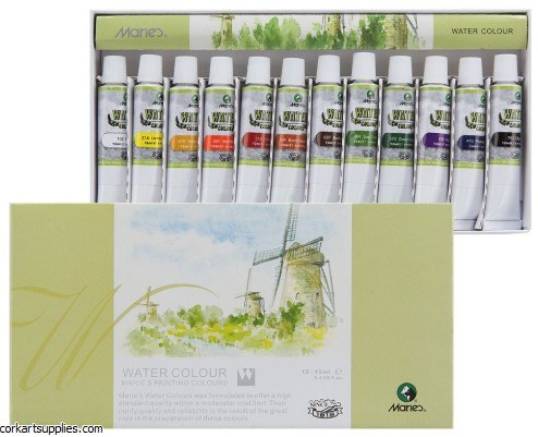 Maries 12ml Watercolour 12pk