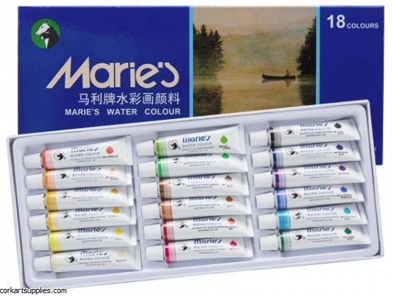Maries 12ml Watercolour 18pk