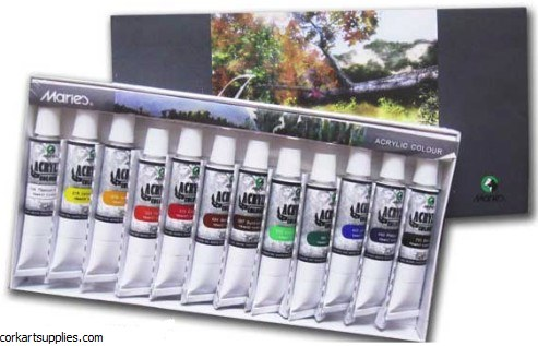 Maries Acrylic Paints 12ml 12 Pack