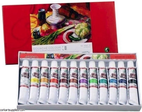 Maries Gouache Paints 12ml 12 Pack