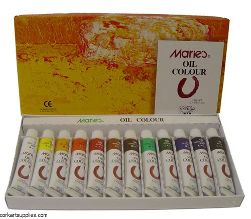 Maries Oil Colour 12ml 12 Pack