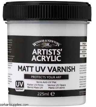 Artists' Acrylic Matt Varnish 225ml Winsor & Newton