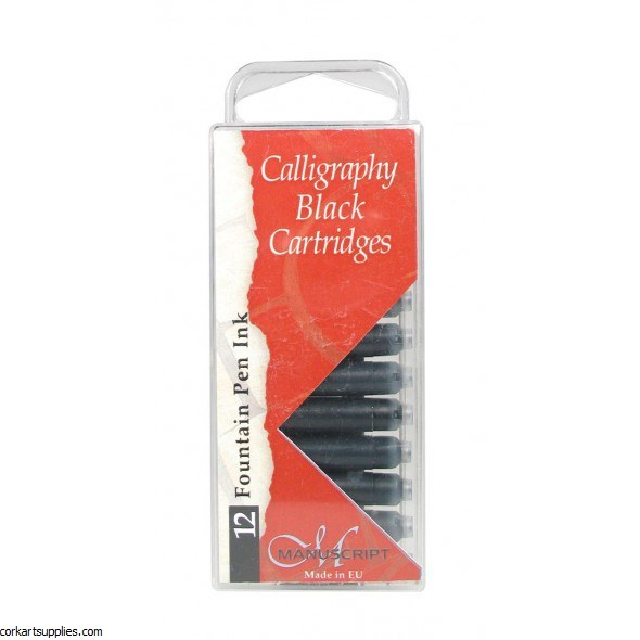Calligraphy Cartridge Blk 12pk