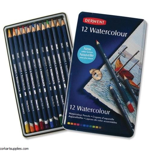 Derwent W/Colour Pencils 12pk^