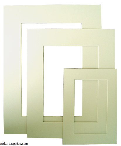 "Mounts 15¾x19¾"" Pale Ivory"