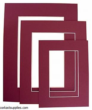 "Mounts 11¾x15¾"" Maroon"